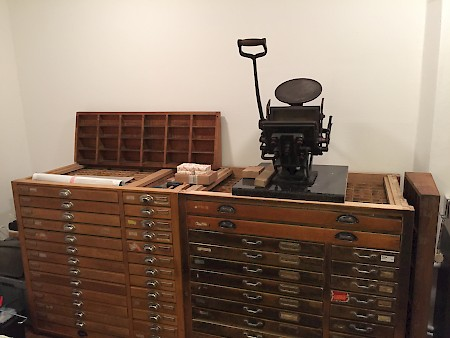 I'm almost finished setting up my letterpress studio. Can't wait to start printing.